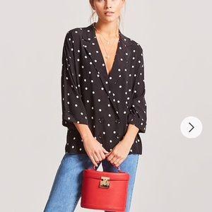 Forever 21 polka dots blazer